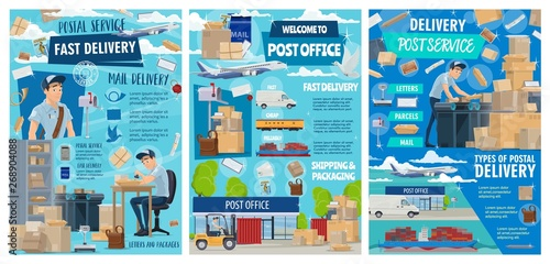 Postal delivery service, post office shipping